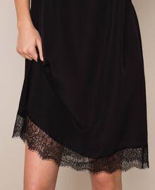 Robe nuisette avec dentelle Noir / Noir Femme 201MT2282-04