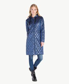 Long embroidered padded jacket Midnight Blue JA72KB-01
