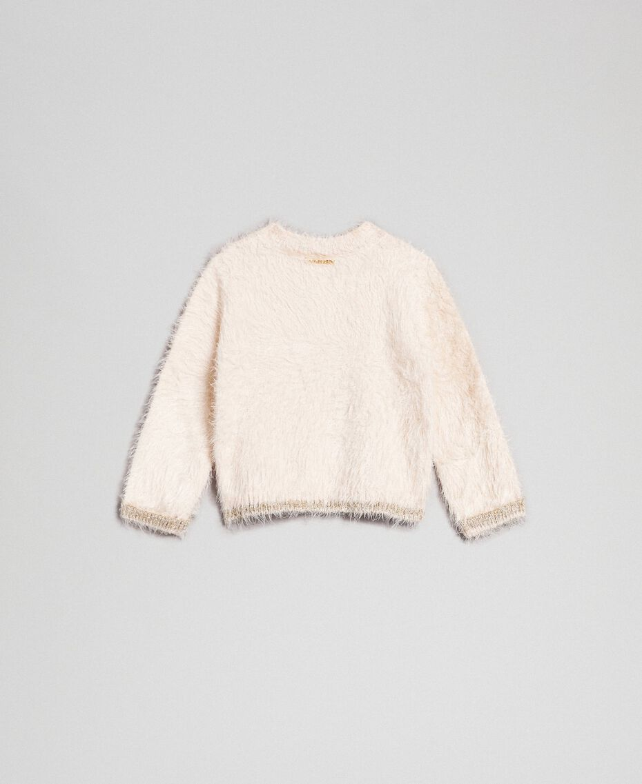 Fur effect yarn jumper Oat Child 192GB3060-0S