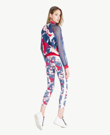 "Printed bomber ""Camouflower"" Print Woman LS86QQ-04"