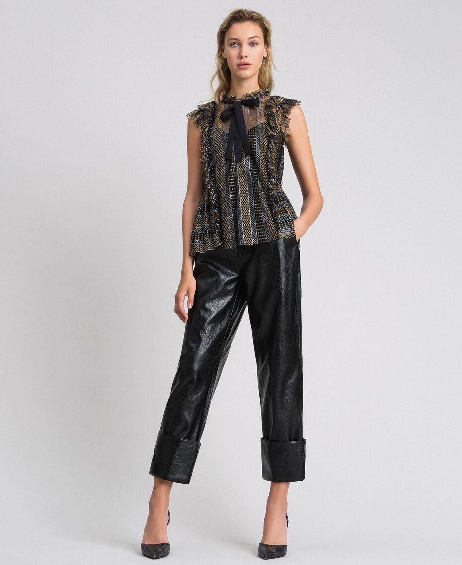 Pantaloni in similpelle Nero Donna 192TP2060-02