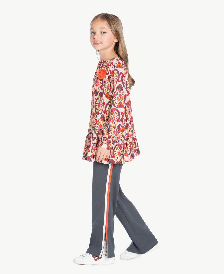 Printed blouse Cream Folk Print Female GA7241-02