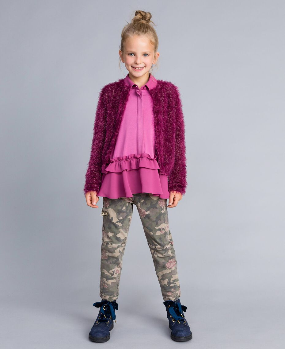 Printed canvas cargo trousers Camouflage Print Child GA82EB-0T