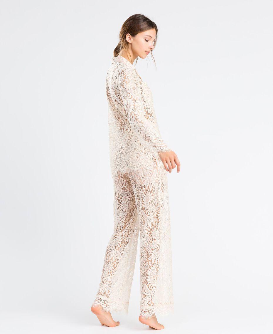Pantaloni in pizzo smerlato Blanc Donna IA8CRR-02