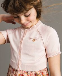 Viscose crêpe shrug Blossom Pink Child 191GJ3011-0S