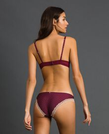 Polka dot briefs with lace Micro Polka Dot Purple Red Print Woman 192LI6366-03