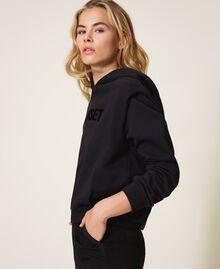 Sweat avec logo brodé assorti Noir Femme 202TT2T57-02