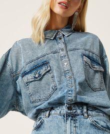 """Camicia in jeans Blu """"Denim Medio"""" Donna 212AP2391-06"""