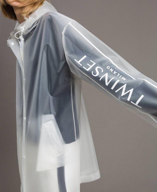 Imperméable avec logo Blanc Soie Opaque Femme 191TP2030-01