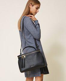 Large faux leather New Cécile bag Turtledove Woman 202TB7180-0S