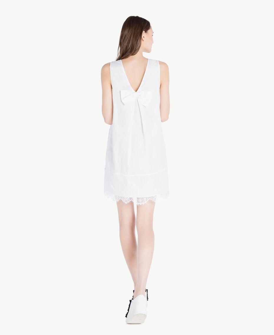 Kleid mit Spitze Weiß Frau SS82J4-03