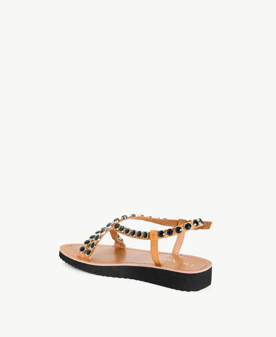 Sandales pierres Noir Femme MS8Z33-03