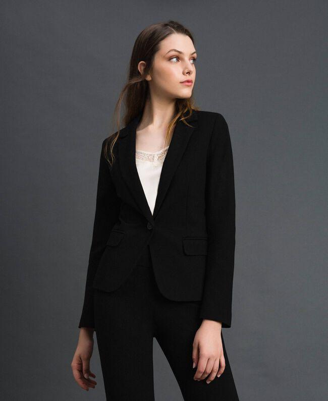 Giacca blazer monopetto Nero Donna 192TP2083-01