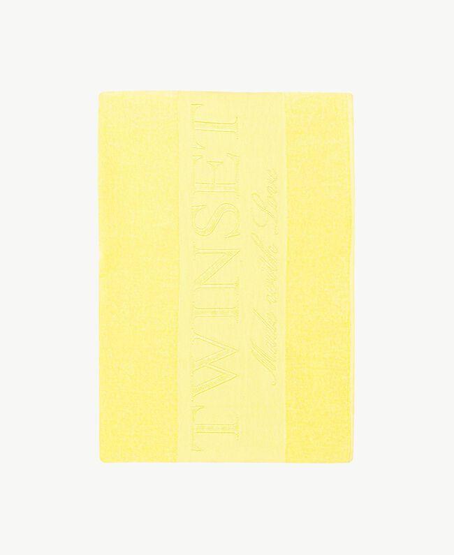 Cotton beach towel Yellow Fizz Woman MS8ZWW-01