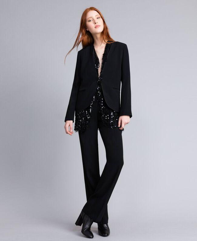Envers satin palazzo trousers Black Woman QA8TGP-01