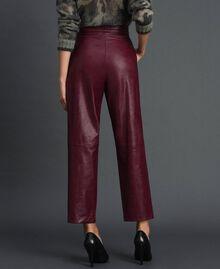 Широкие брюки из искусственной кожи Красный Бархат женщина 192TT203C-03