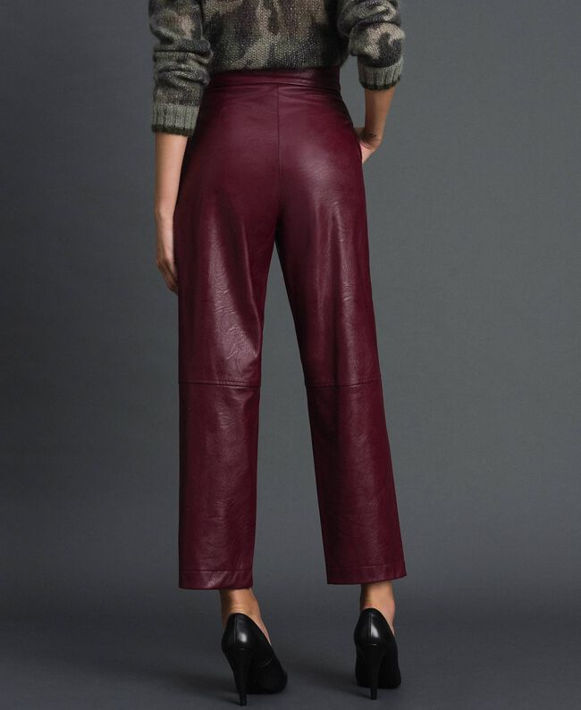Pantalon ample en similicuir Rouge Velours Femme 192TT203C-03