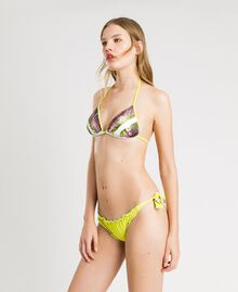 """Thong with little bows and ruffles """"Lemon Juice"""" Yellow Woman 191LBMHQQ-02"""