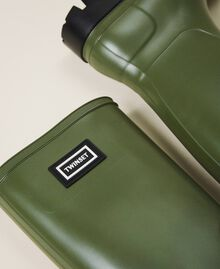 """Rain boots with logo """"Olive Green"""" Woman 202TCP210-04"""
