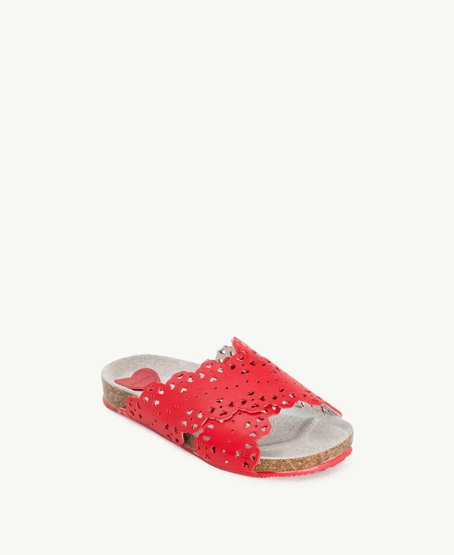 Mules feston Rouge Grenade Enfant HS88CS-02