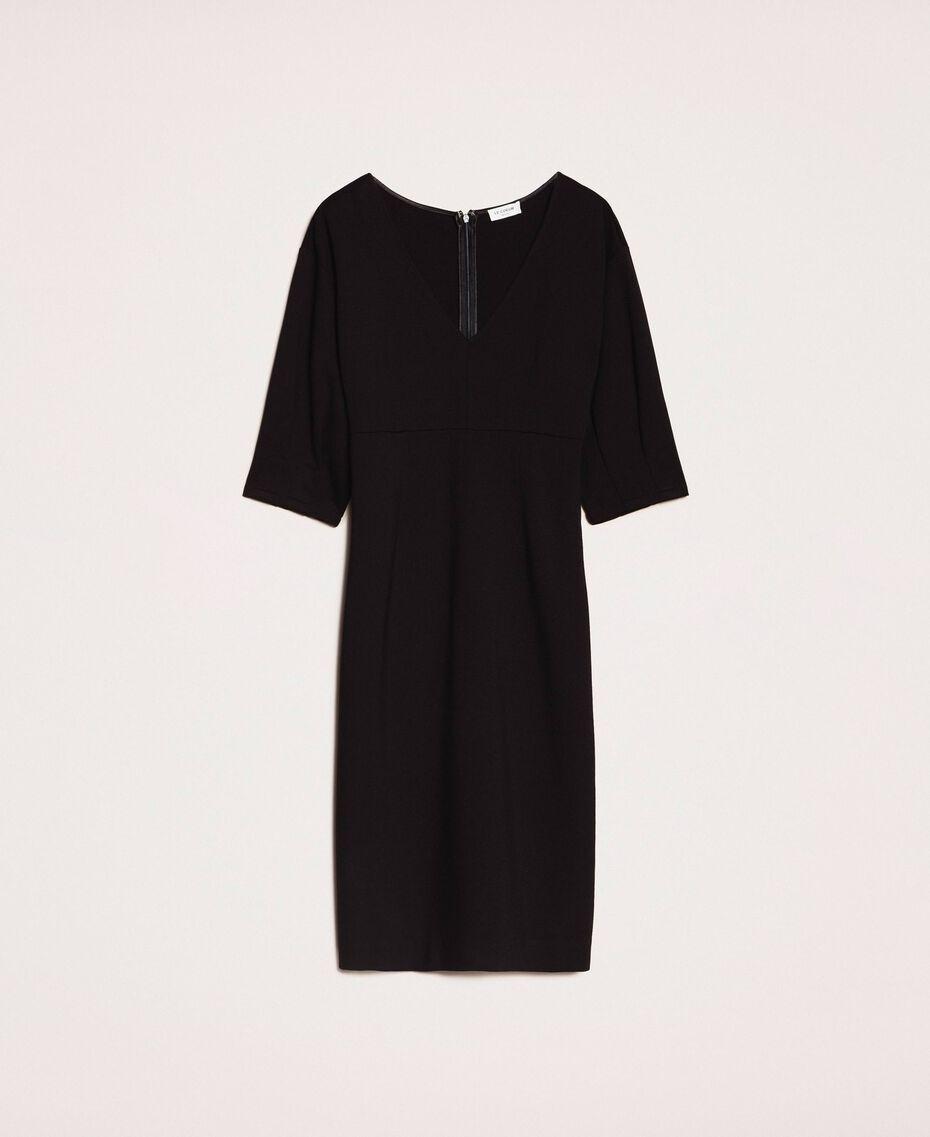 Robe fourreau avec manches 3/4 Noir Femme 201ST2054-0S