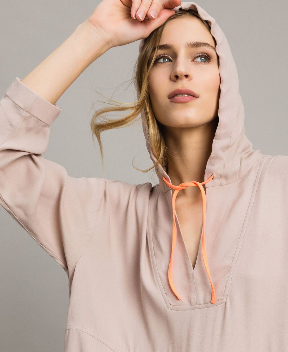Crêpe sweatshirt with maxi pocket Delicate Pink Woman 191LL23AA-05