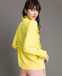 Rüschen-Hemd aus Seide-Mix Gelb Frau 191TP2134-04