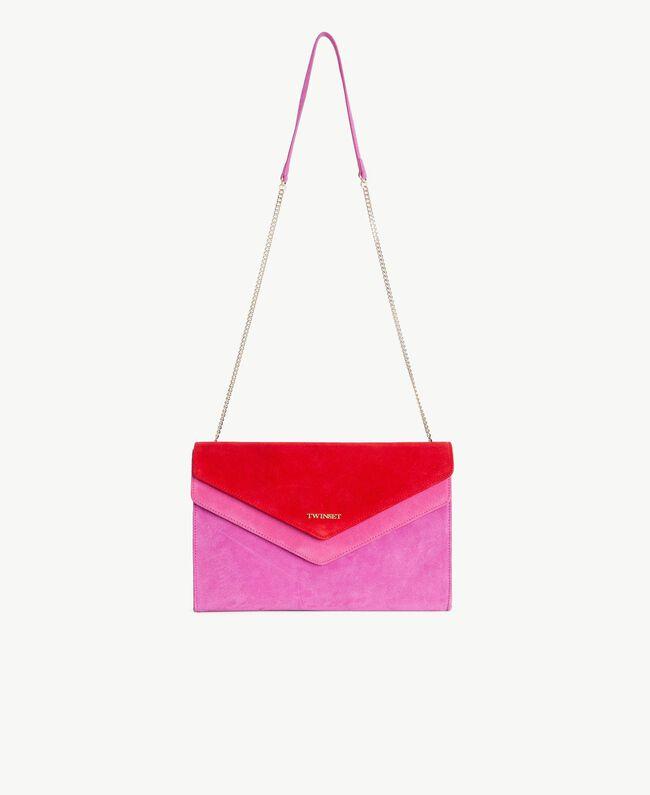 TWINSET Umhängetasche mit zwei Patten Multicolor Provocateur Pink / Fuchsia / Rubin Frau OS8TDP-01