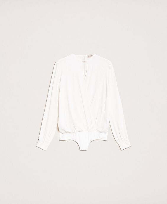 Body a blusa in misto seta
