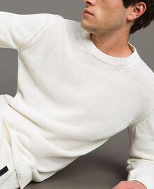 Cotton-blend jumper Matte White Man 191UT3082-04