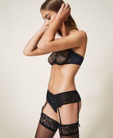 Valenciennes lace bandeau bra Black Woman 202LL6H11-03