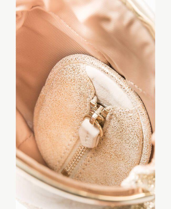 "TWINSET Mini clutch bag Two-tone ""Dune"" Beige / Light Gold Woman OS8TDU-04"