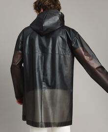 Hood raincoat with logo Black Man 191UT2040-03