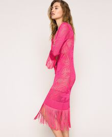 """Lace stitch dress with fringes """"Jazz"""" Pink Woman 201TT3010-02"""