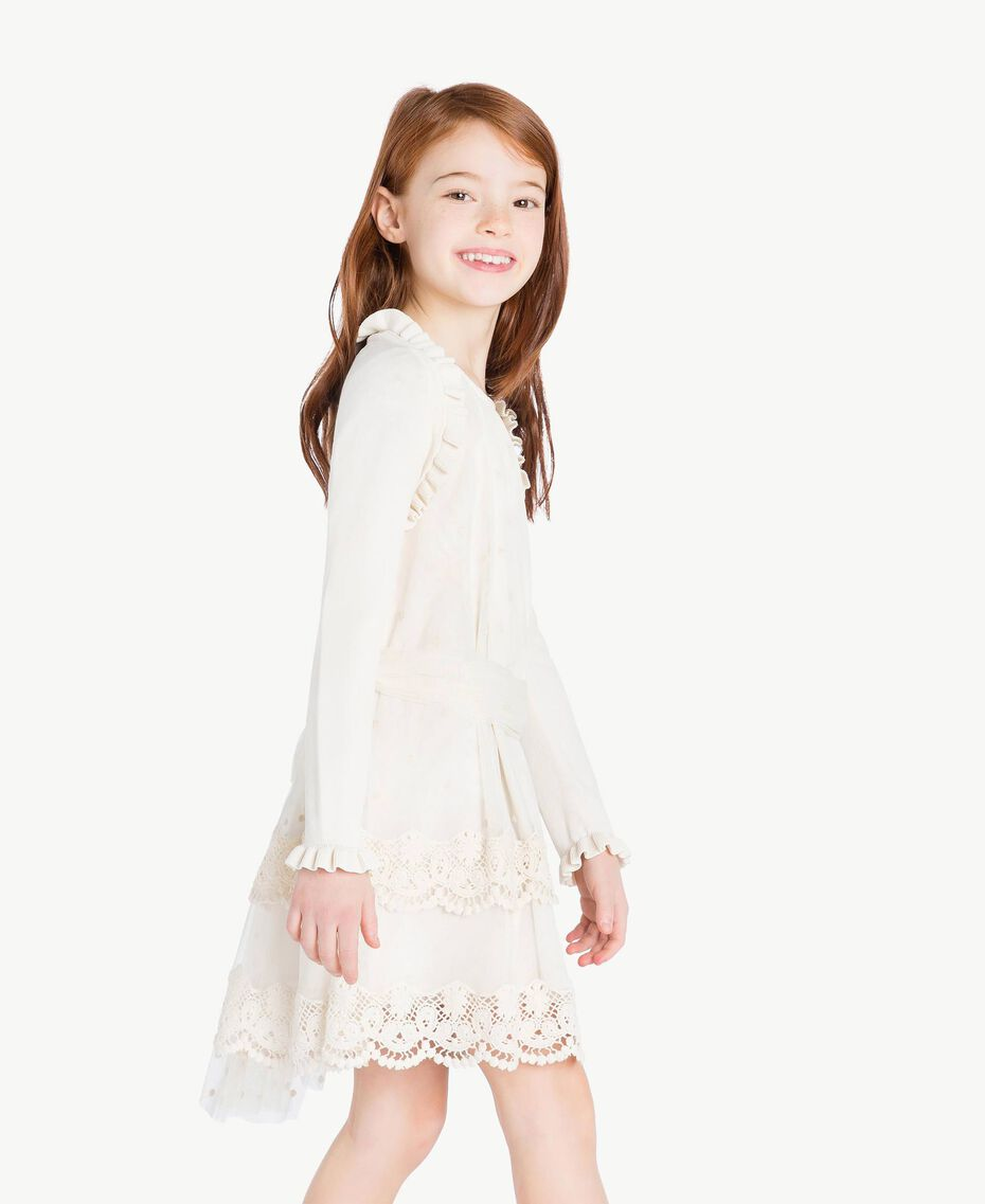 Ruffled shrug Pale Cream Child GS8LA1-03
