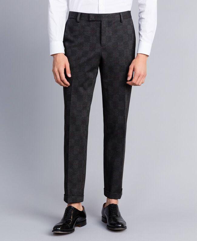 meilleur site web 63938 ed646 Ensemble veste/pantalon imprimé Homme, Gris | TWINSET Milano