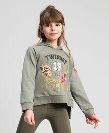 Sweat avec imprimé et logo Imprimé Brocart Or / Vert Alpin Enfant 192GJ2444-01