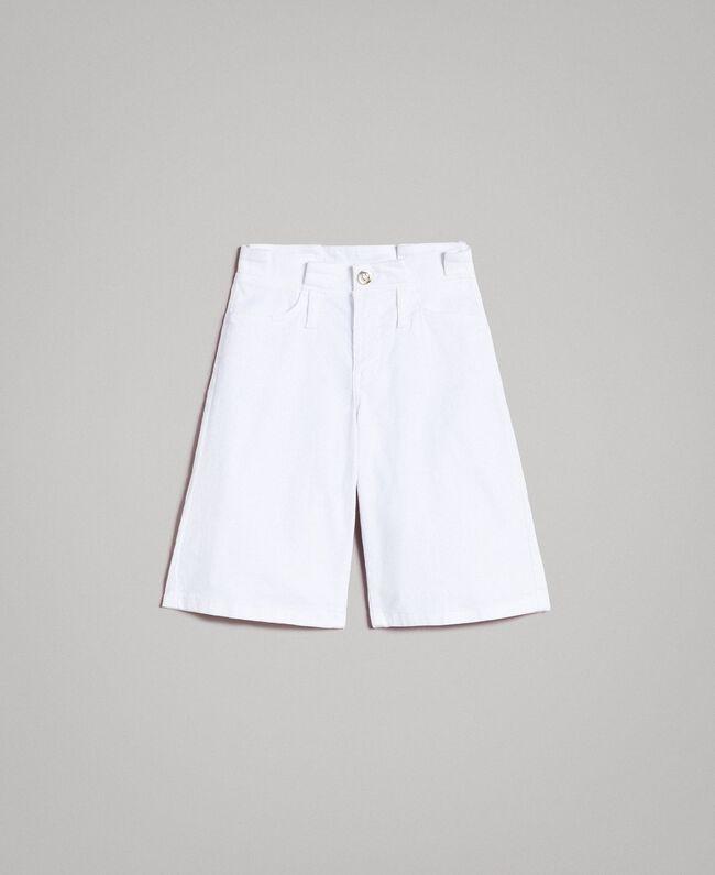 Cotton bull bermuda shorts White Child 191GJ2493-01