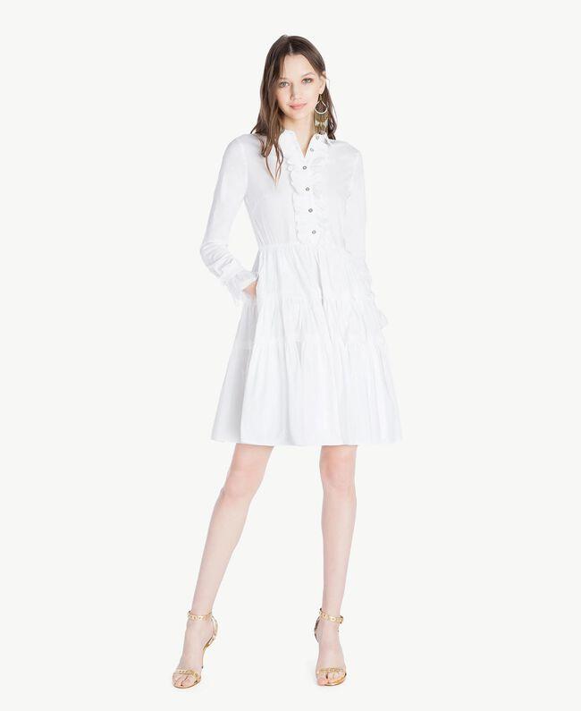 Poplin dress White Woman TS821X-01