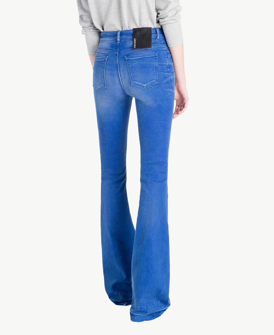 Bell bottom jeans Denim Blue Woman JS82WT-03