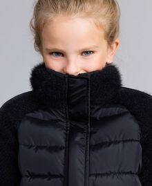 Short knit and nylon padded jacket Black Child GA82A4-04