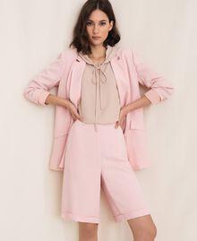 "Georgette Bermuda shorts ""Peachskin"" Pink Woman 201LL2NDD-0T"