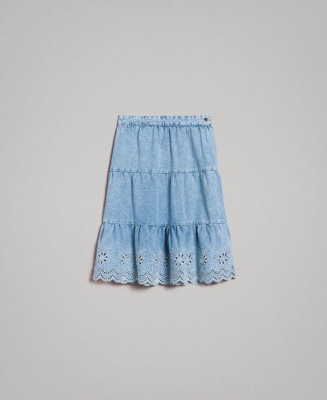 Sangallo Donna Jeans Balze Minigonna wkPnO80
