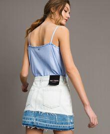 Minijupe en denim Bleu Denim Femme 191MT2433-03
