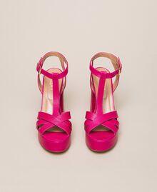 T-Bar-Sandalette aus Leder Amarena Frau 201TCP070-05