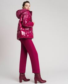 Short quilted puffer jacket with real down Beet Red Woman 192TP2500-01