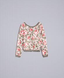 """Кардиган из вискозы с принтом Набивной Розовый Цветочный """"Облачные Розы"""" женщина JA83HN-0S"""