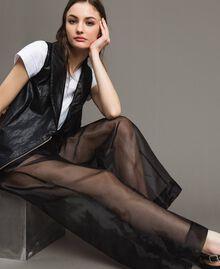 Pantalon palazzo en organza Noir Femme 191MT2132-05