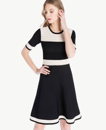 Knitted dress Black Woman PS83JA-04