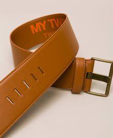 Maxi-Taillengürtel aus Lederimitat Leder Frau 201MO5351-01